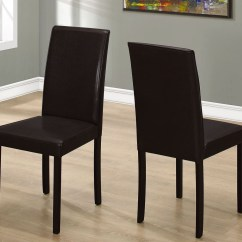 Dark Brown Leather Chair Patio With Ottoman Canada 36 Quot Dining Set Of 2 From Monarch