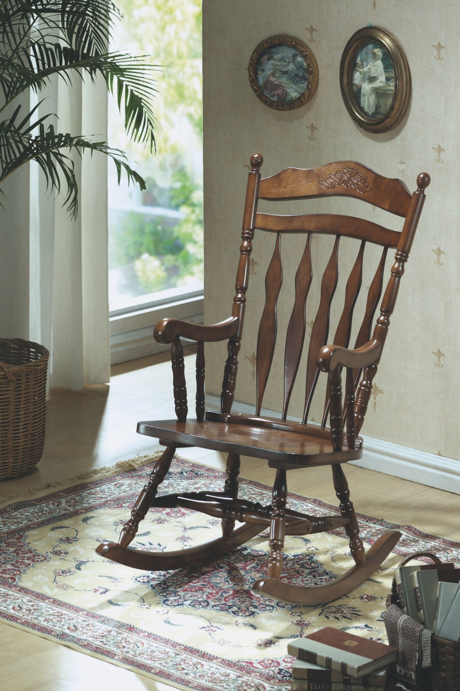 coleman rocking chair lifts for stairs with landings 1521 dark walnut embossed back from monarch