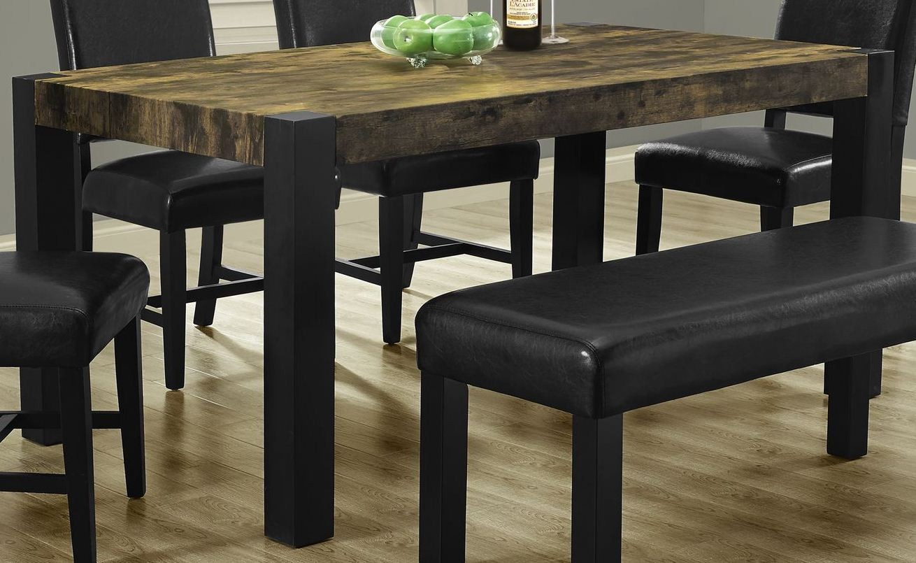 distressed black dining chairs folding chair set table from monarch 1620