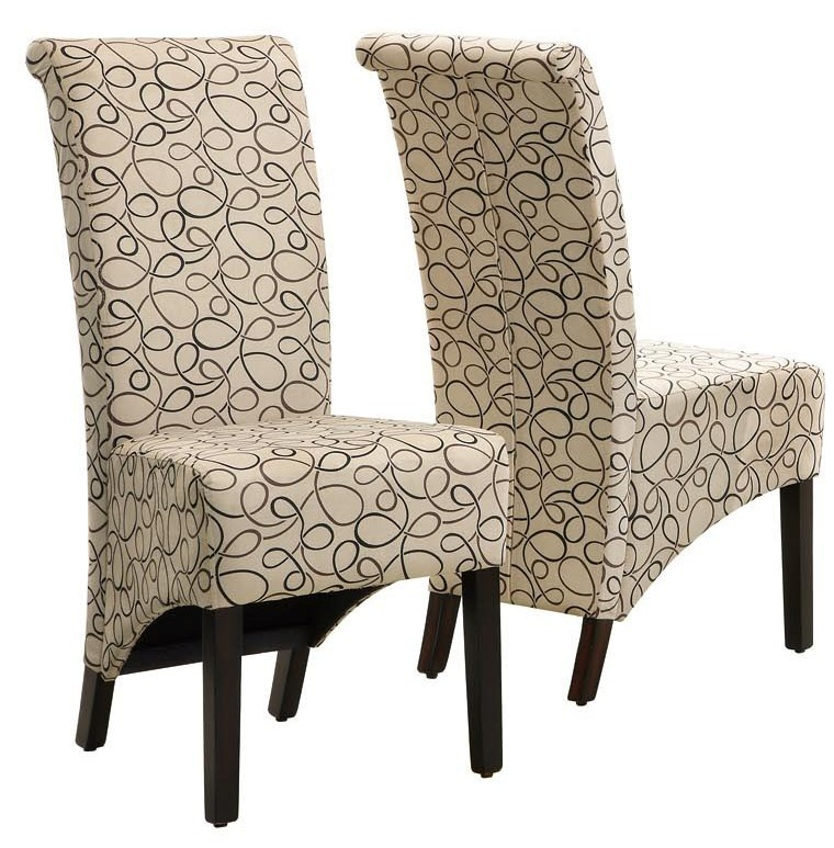 fabric side chairs chair back covers for weddings 1789tn tan swirl set of 2 from monarch i 2491134