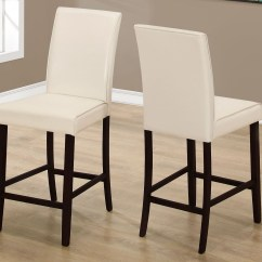 Ivory Leather Office Chair All Weather Wicker Dining Chairs Counter Height Set Of 2 From