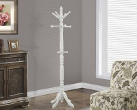 Antique White Solid Wood Coat Rack from Monarch (2013
