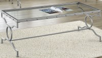 Silver Metal Coffee Table from Monarch | Coleman Furniture