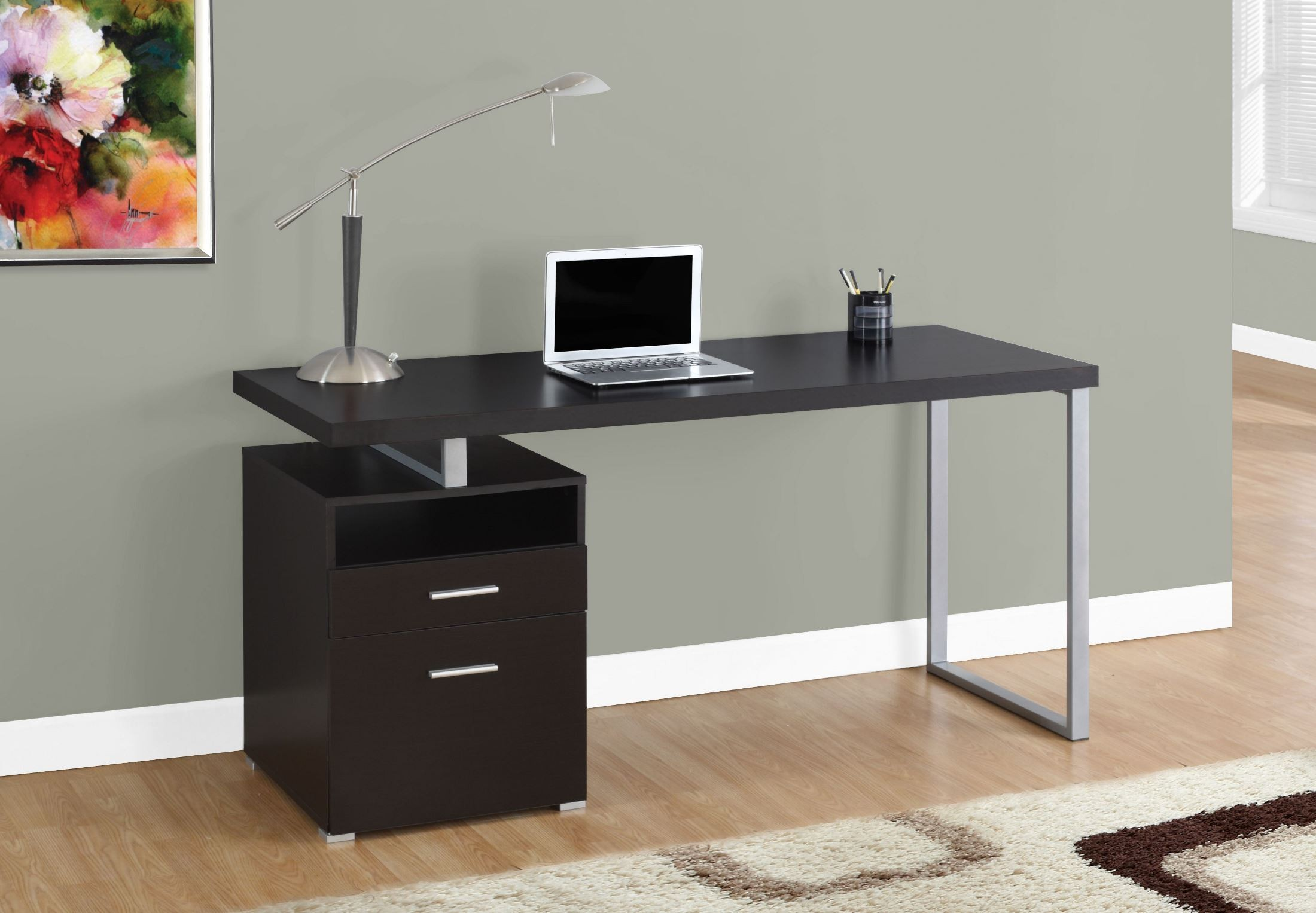 Cappuccino 60 Computer Desk from Monarch  Coleman Furniture