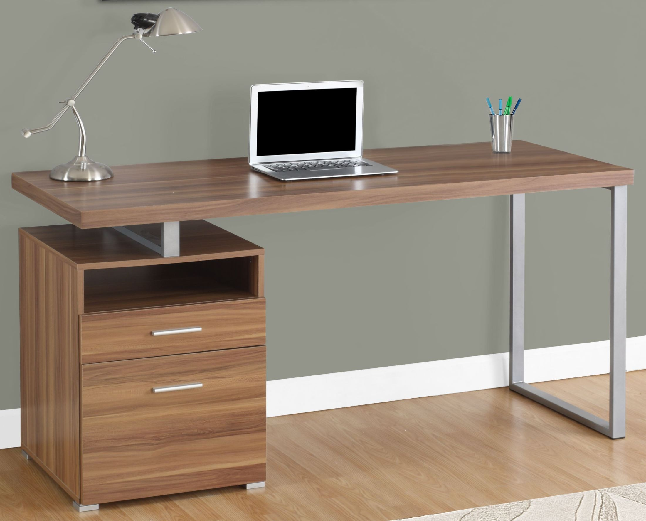 Walnut 60 Computer Desk from Monarch  Coleman Furniture