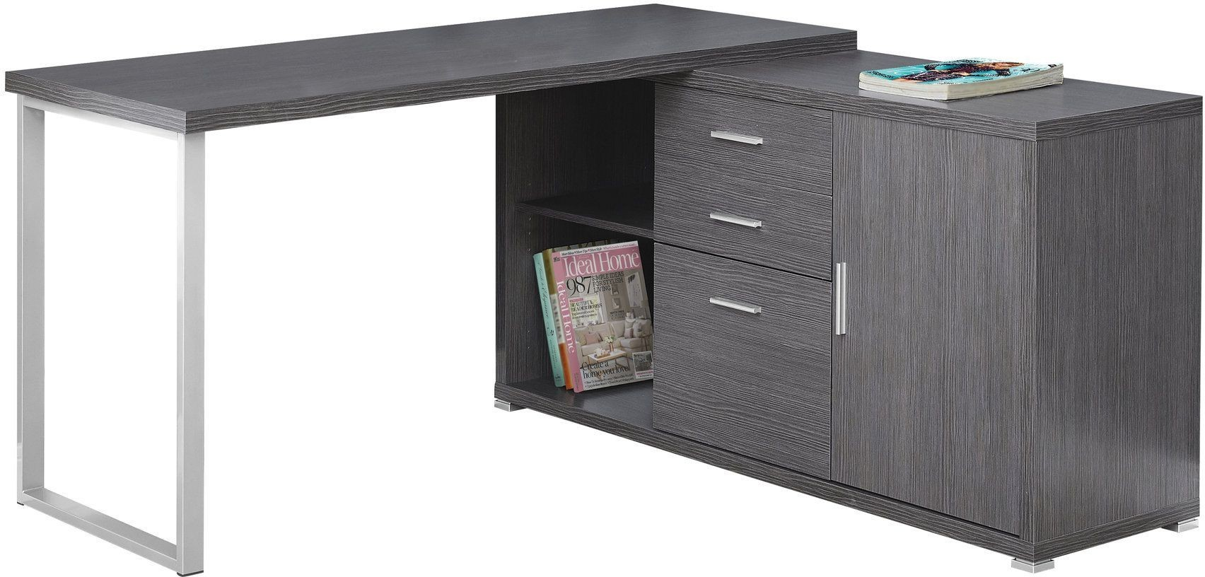 60 Grey Computer Desk from Monarch  Coleman Furniture