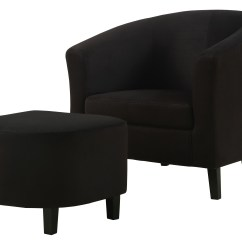 Accent Chairs With Ottoman Lift Recliner Costco 8055 Black Padded Microfiber Chair And From