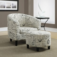 Accent Chairs With Ottoman Webbed Lawn Vintage French Fabric Chair From
