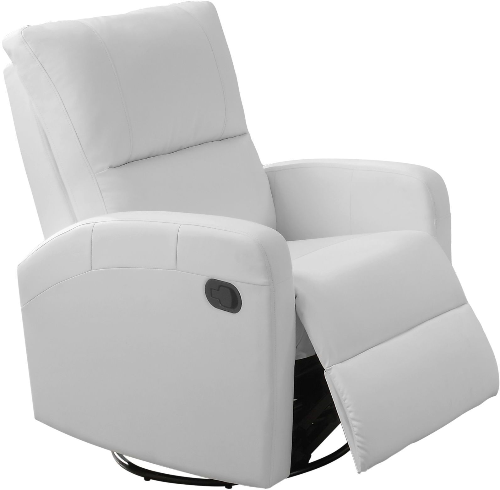 White Leather Swivel Chair 8084wh White Bonded Leather Swivel Glider Recliner 8084wh