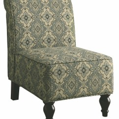 Aqua Accent Chair Black Dining Covers 8124 Turquoise Blue Tapestry Fabric Traditional