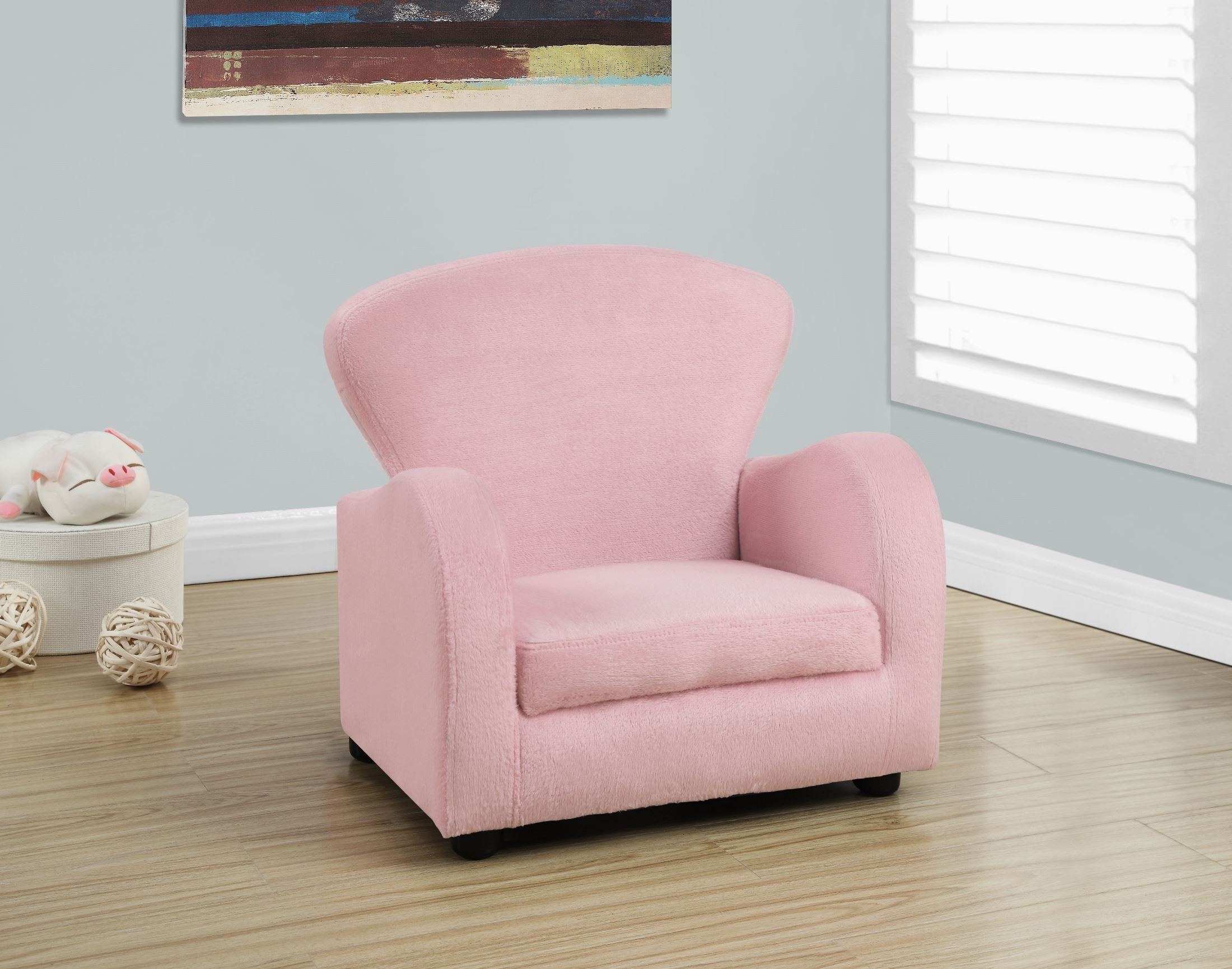 fuzzy desk chair dorel rocking slipcover pink fabric juvenile 8142 monarch