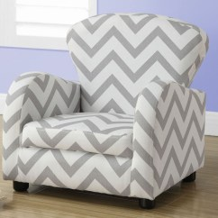 Gray Chevron Chair Paula Deen Dogwood Dining Chairs Fabric Juvenile From Monarch Coleman
