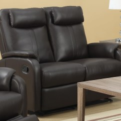 Bonded Leather Reclining Sofa Set Bed Duck Egg 81br 2 Brown Loveseat From