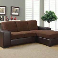 Corduroy Fabric Sofa Seat Foam In Delhi Dark Brown Sectional From Monarch