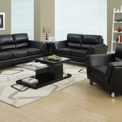 Black Paint For Leather Sofa Cindy Crawford Montclair Sleeper Bonded Match From Monarch 8203bk