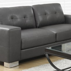 Charcoal Gray Sectional Sofa Power Reclining Sofas 8223gy Grey Bonded Leather Monarch