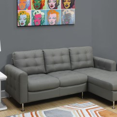 Light Gray Leather Sofa Set White Slipcover Bed Bonded And Chrome Lounger From