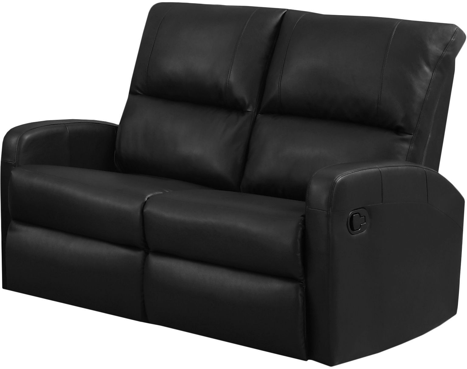 bonded leather reclining sofa set c table 84bk 2 black loveseat from
