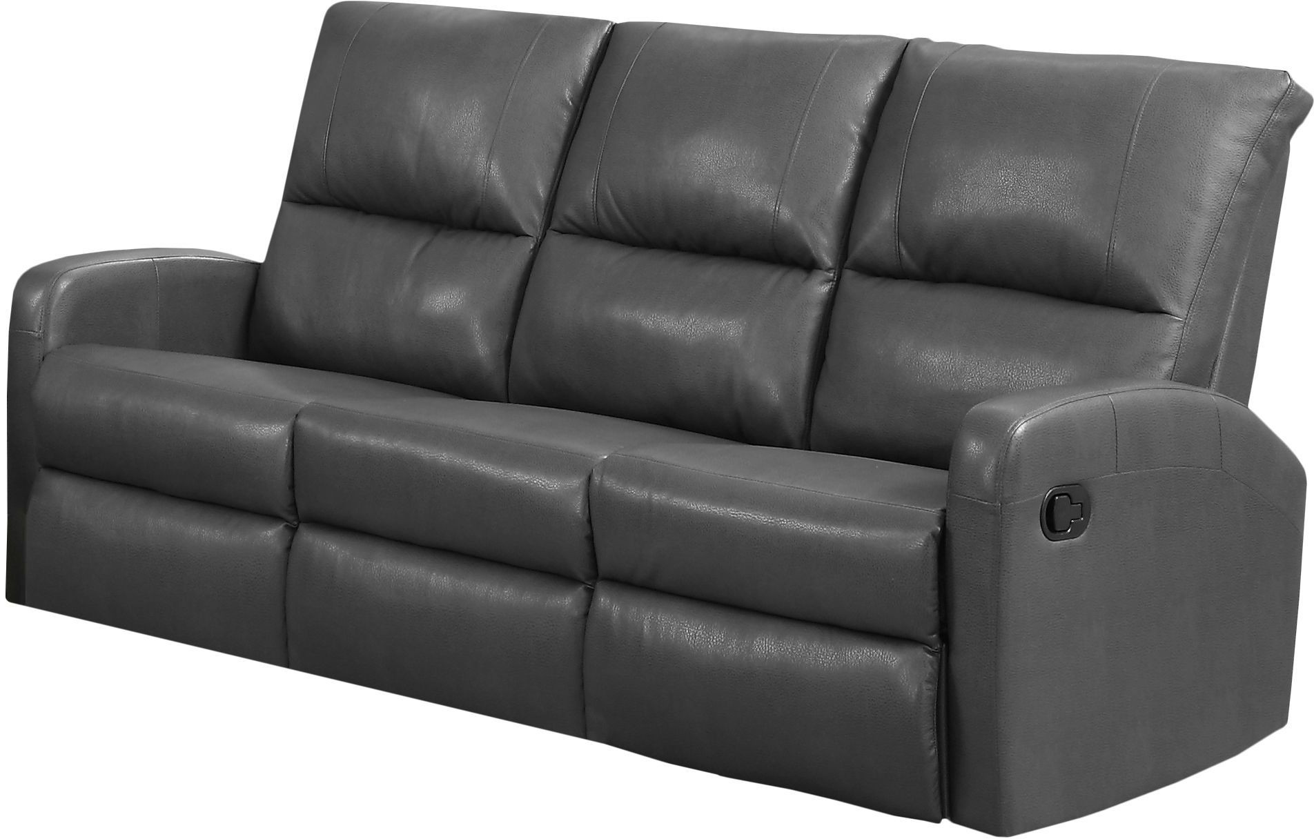 gray leather sofa recliner covers walmart calgary reclining