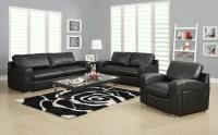 Black Linen Match Chair from Monarch (8501BK) | Coleman ...