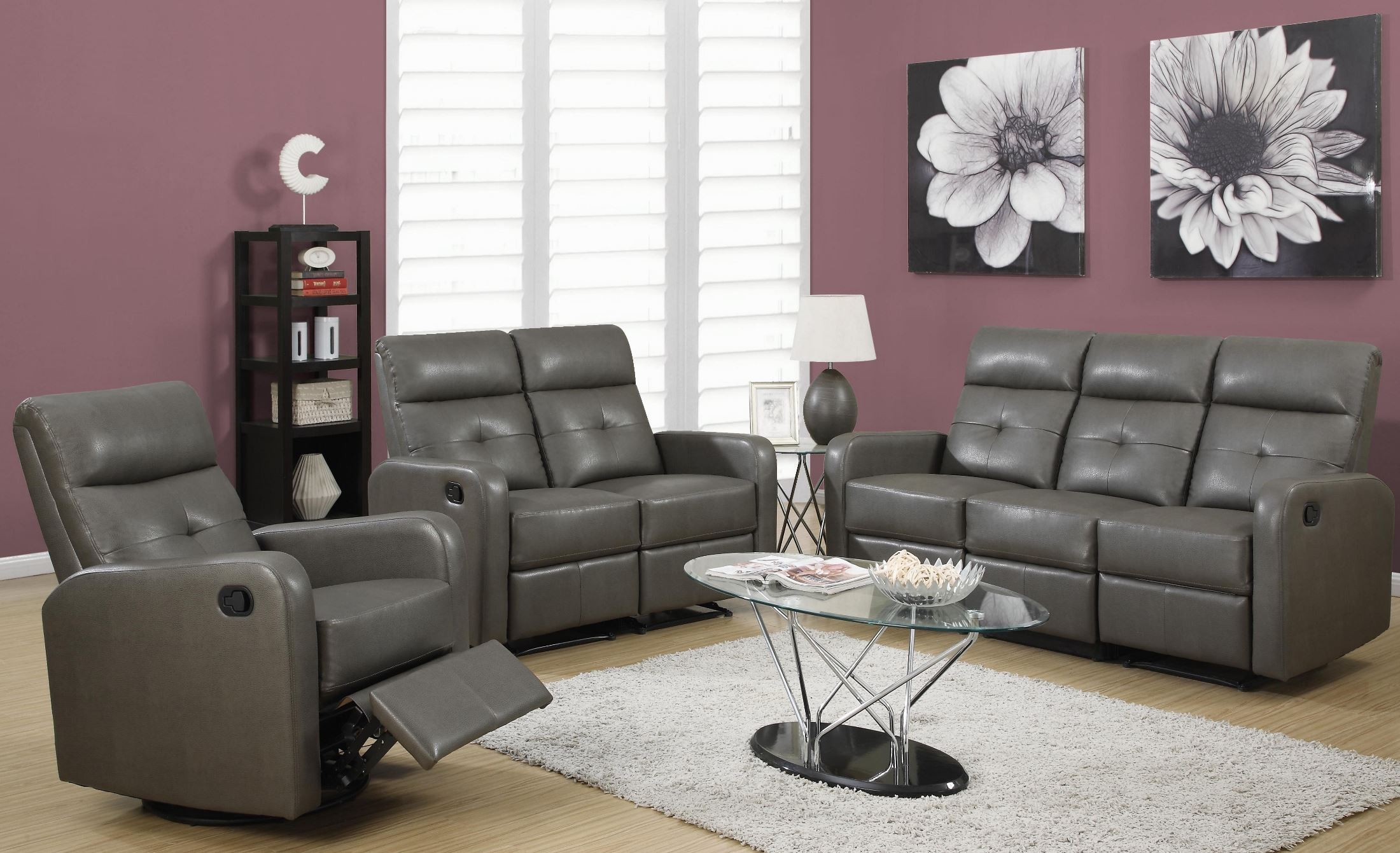 white reclining sofa and loveseat 1 sofala ave riverview 2066 85gy-3 charcoal gray bonded leather living room ...