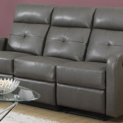 Gray Leather Sofa Recliner Memory Foam Sectional Sofas 85gy 3 Charcoal Grey Bonded Reclining