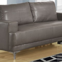 Charcoal Gray Sofa Set Clic Clac 8603gy Grey Bonded Leather Monarch