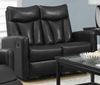 87BK-3 Black Bonded Leather Reclining Living Room Set ...