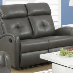 Charcoal Gray Sofa Sets Childrens Toys R Us Uk 88gy 2 Bonded Leather Reclining Loveseat