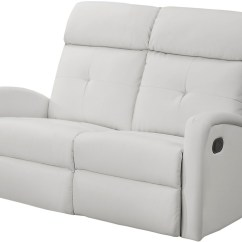 Angus Bonded Leather Reclining Sofa Striped Fabric Sofas Uk 88wh 2 White Loveseat From