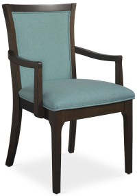 Improv in B Clear Brown and Maxi Teal Fabric Arm Chair ...