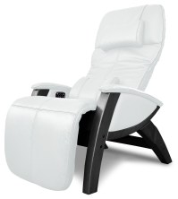 Svago Ivory Leather Benessere Chair With Black Wood Legs ...