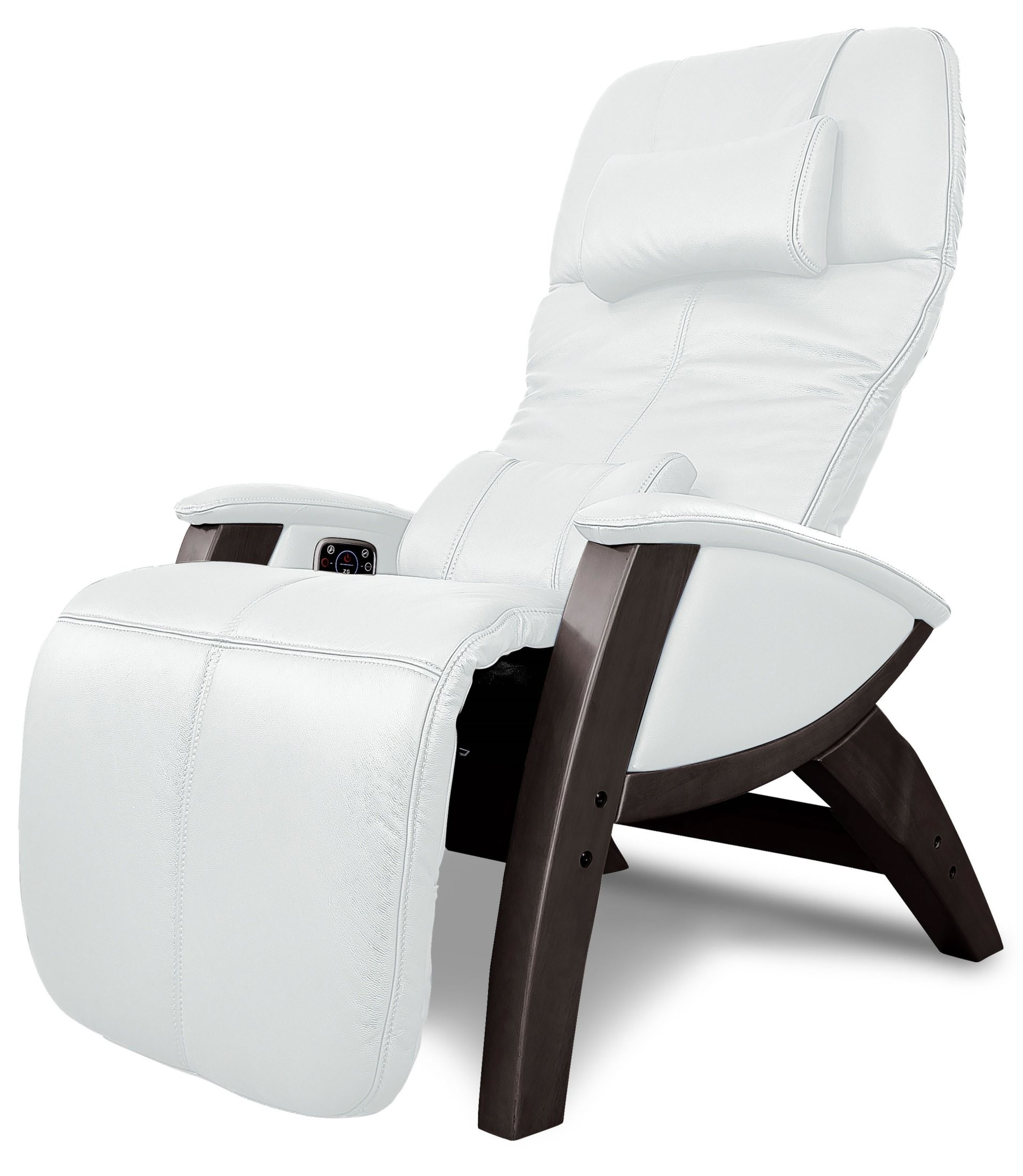ivory leather office chair sling patio furniture svago benessere with walnut wood legs