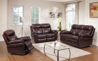 Shae Joplin Brown Leather Power Reclining Living Room Set ...