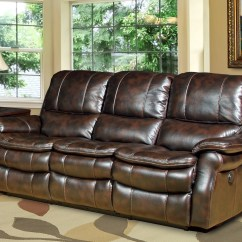 Parker Leather Sofa Reviews Compact Sectional Juno Nutmeg Dual Power Reclining From Living