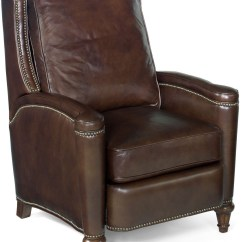 Dark Brown Leather Chair Round Accent Rylea Recliner From Hooker Coleman