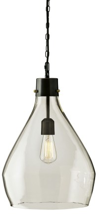 Avalbane Clear and Gray Glass Pendant Light, L000468, Ashley