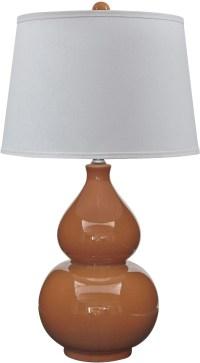 Saffi Orange Ceramic Table Lamp from Ashley | Coleman ...