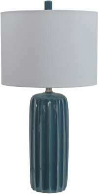 Adorlee Teal Ceramic Table Lamp from Ashley | Coleman ...