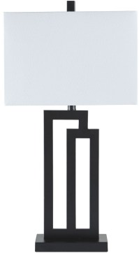 Darnell Black Metal Table Lamp, L207024, Ashley