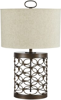 Aryan Black Metal Table Lamp, L207094, Ashley