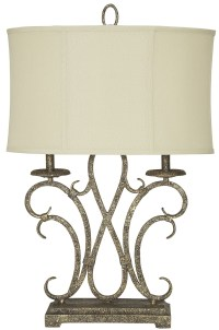 Aira Antique Gold Metal Table Lamp, L208054, Ashley
