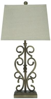 Amiel Antique Gold Metal Table Lamp Set of 2, L369924, Ashley