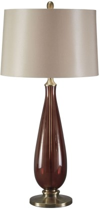 Sandera Amber Glass Table Lamp from Ashley (L430134 ...