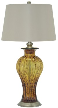 Ardal Amber Glass Table Lamp, L430354, Ashley