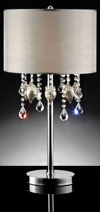 Calypso Hanging Crystal/Glass Ornament Table Lamp from
