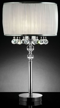 Chloe White Hanging Crystal Table Lamp from Furniture of ...