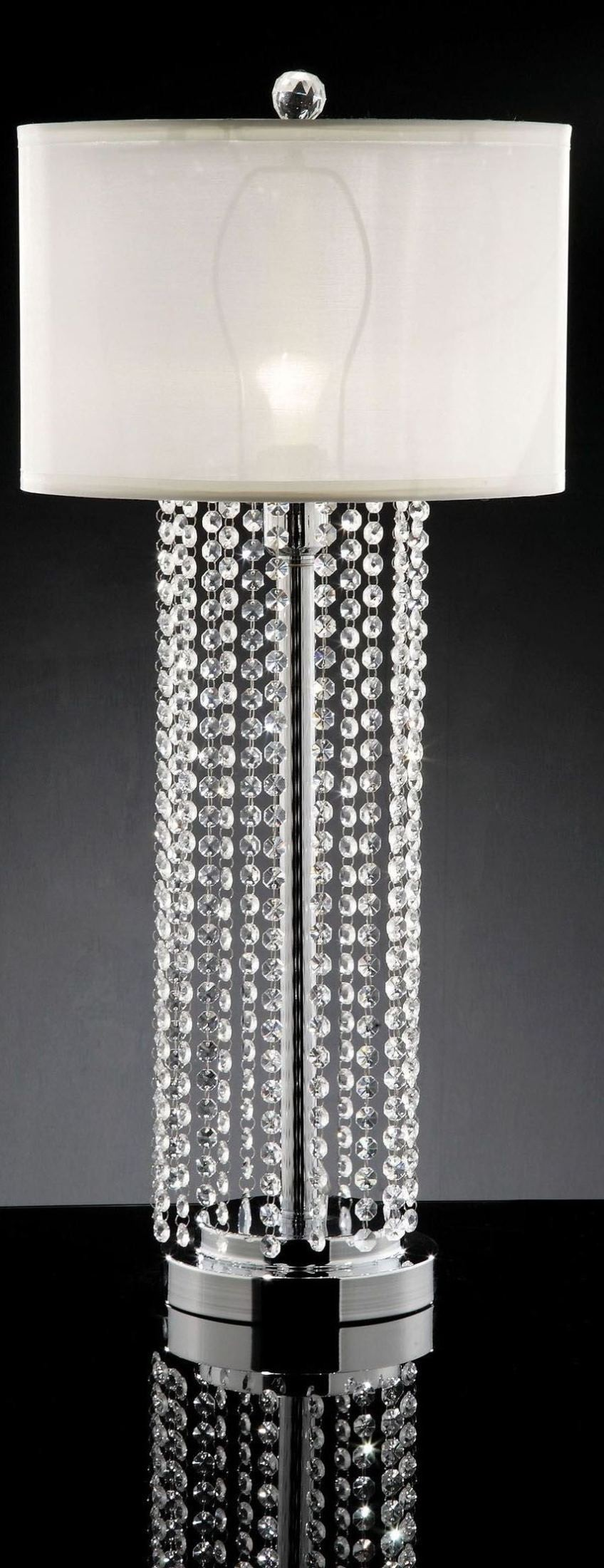 Claris Hanging Crystal Table Lamp from Furniture of