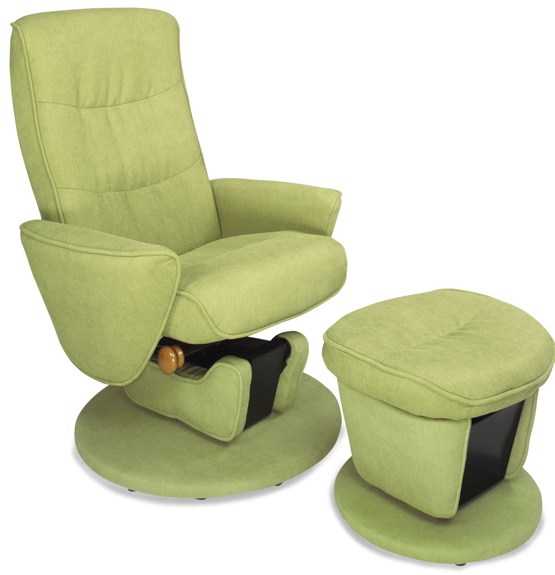 glider recliner chair with ottoman 1930s rocking fabric relax r leaf green