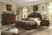 Lavelle Melange Mansion Leather Bedroom Set from Aico ...